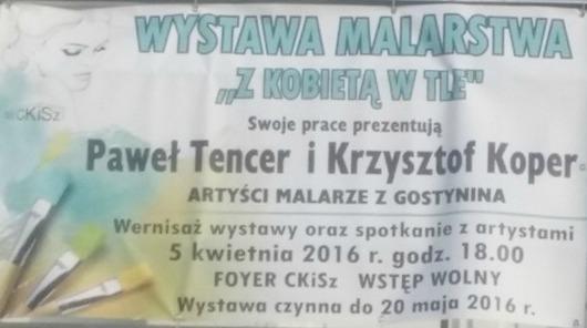 Artyści malarze z Gostynina z wystawą w Sierpcu