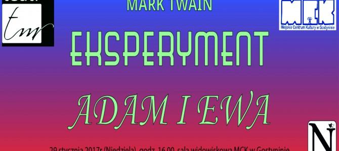 """Spektakl teatralny """"Eksperyment Adam i Ewa"""" – zmiana terminu"""