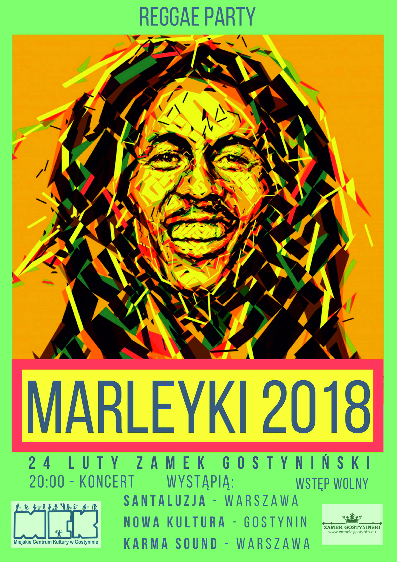 REGGAE PARTY PLAKAT CMYK